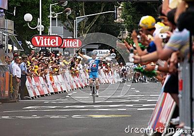 4 2009 de runda france le turnerar Redaktionell Fotografering för Bildbyråer