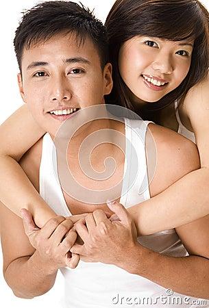 4对亚洲夫妇