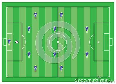 4-4-2 esquema do futebol