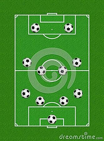 4-4-2 Fußball-Anordnung