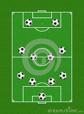 4-4-2 Soccer Formation