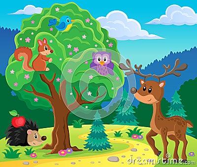 森林动物题目图象4 - eps10传染媒介例证.图片