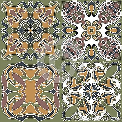 4 Art Nouveau Wallpapers Stock Images Image 17699094