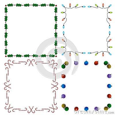 4 bordi decorativi di festa fotografie stock immagine for Bordi decorativi