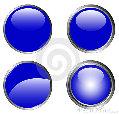 4 Classy Blue Buttons