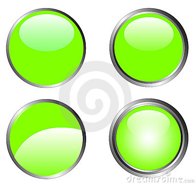 4 Classy Green Buttons