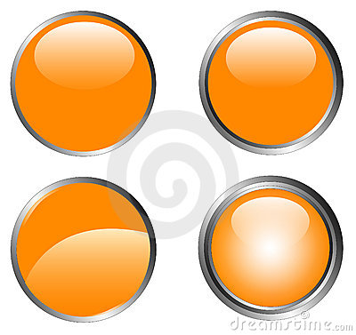 4 Classy Orange Buttons