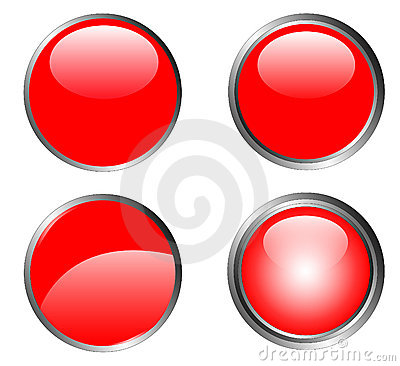 4 Classy Red Buttons
