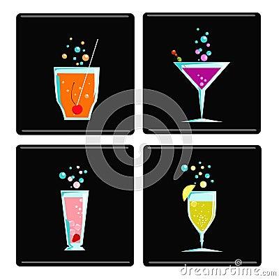 4 cocktails