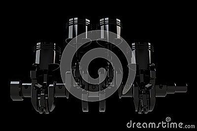 4 cylinder crank assembly