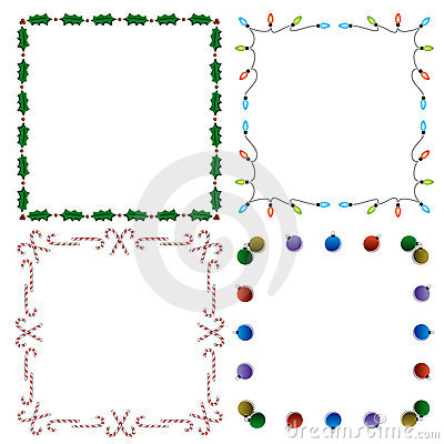 4 decorative holiday borders