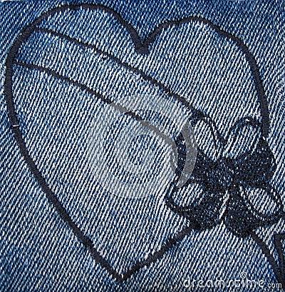4 denim heart