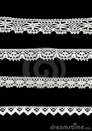 Free 4 Different Lace Borders Stock Photography - 4103112