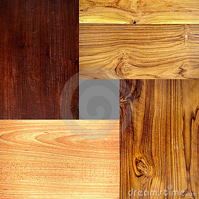 4 diverso tipo texturas de madera