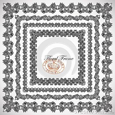 4 floral vintage frame design
