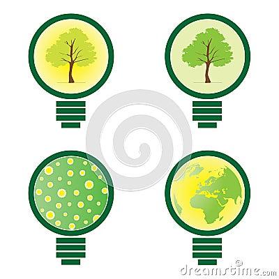 4 Light Bulb - environmental illustration