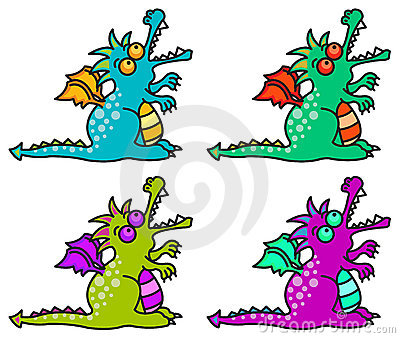 4 magical dragons