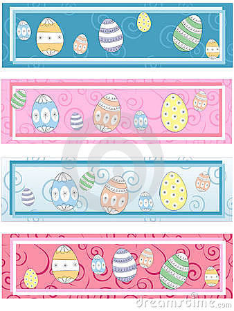 4 Matching Easter Labels Stock Image - Image: 6692161