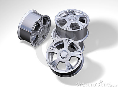 4 metallic rims