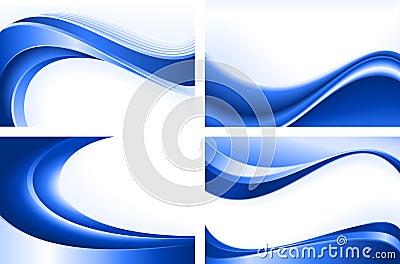 μπλε κύμα 4 αφηρημένο ανασκ&omi