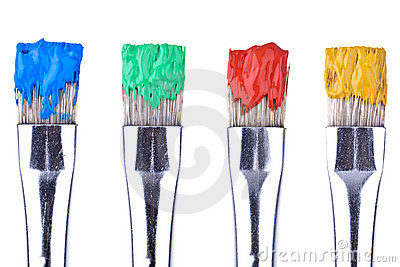 4 Paint Brushes