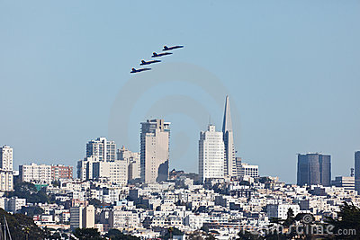 4 Planes San Francisco Fleet Week Airshow Editorial Stock Photo