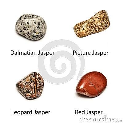 4 polished jasper