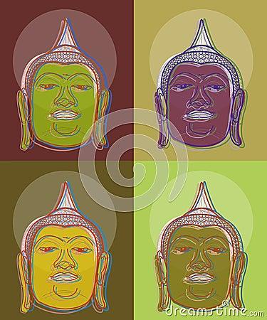 4 pop art buddha