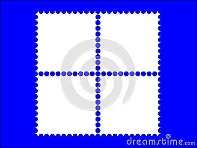 4 postage stamp frame