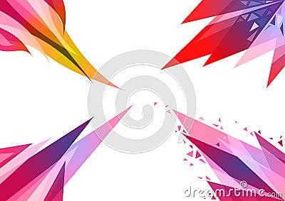 4 reeksen abstracte geometrische als achtergrond
