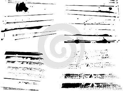 4 Sets of Grunge Stripes