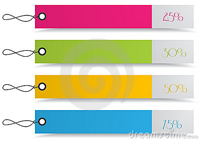 4 shopping discount tags