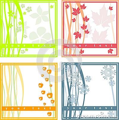 4 simple season cards