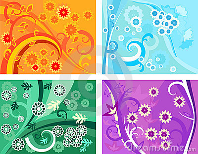 4 vector floral patterns