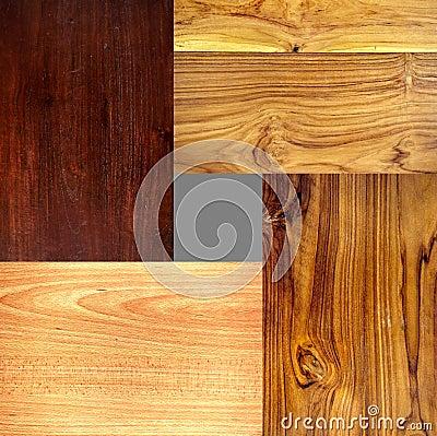 4 verschillende type houten texturen