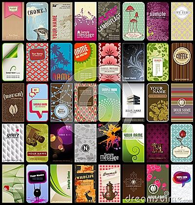 40 визитных карточек