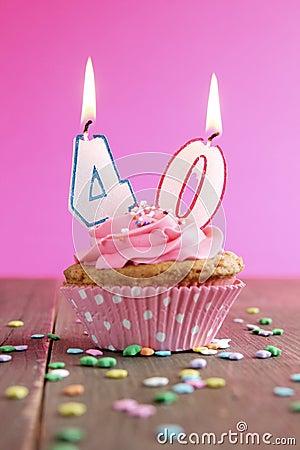 40 birthday cupcake