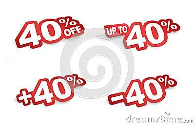 40 percent promotion