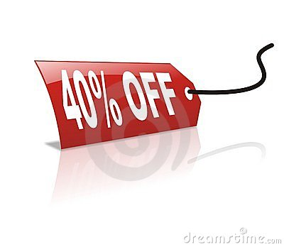 40 persentage off discount