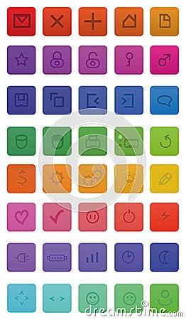 40 web icons