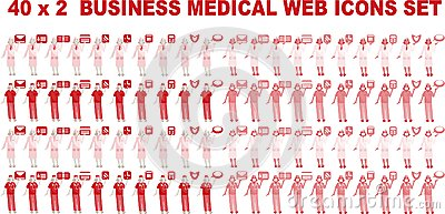 40 x 2 Business Medical Icons
