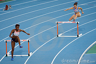 400 m Hurdles women Editorial Image
