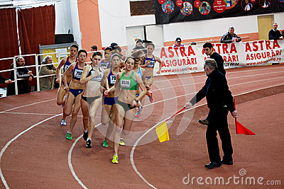 400m race Editorial Stock Image