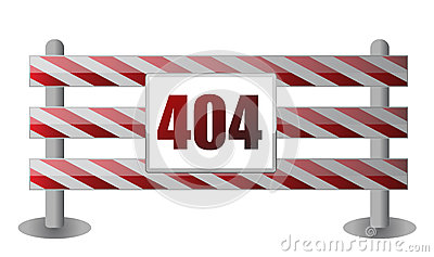 404 barrier illustration design