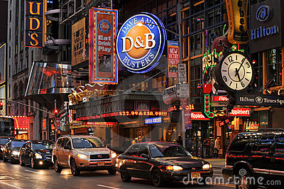 42nd street, New York Editorial Photography