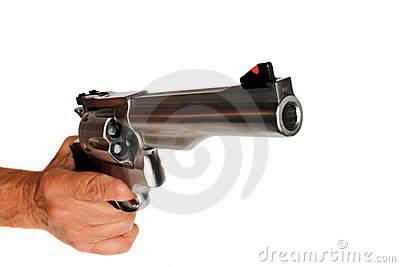 44 Magnum Handgun Revolver isolated