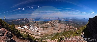 44 megapixel panorama of Crater Lake