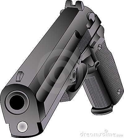 45 caliber gun vector