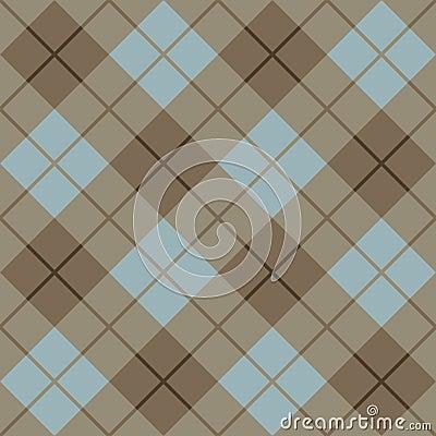 45 Degree Plaid Pattern_Brown-Blue