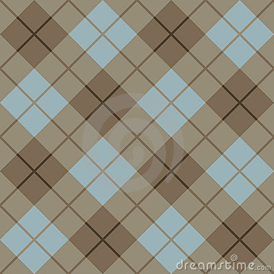Free 45 Degree Plaid Pattern_Brown-Blue Stock Images - 4462724